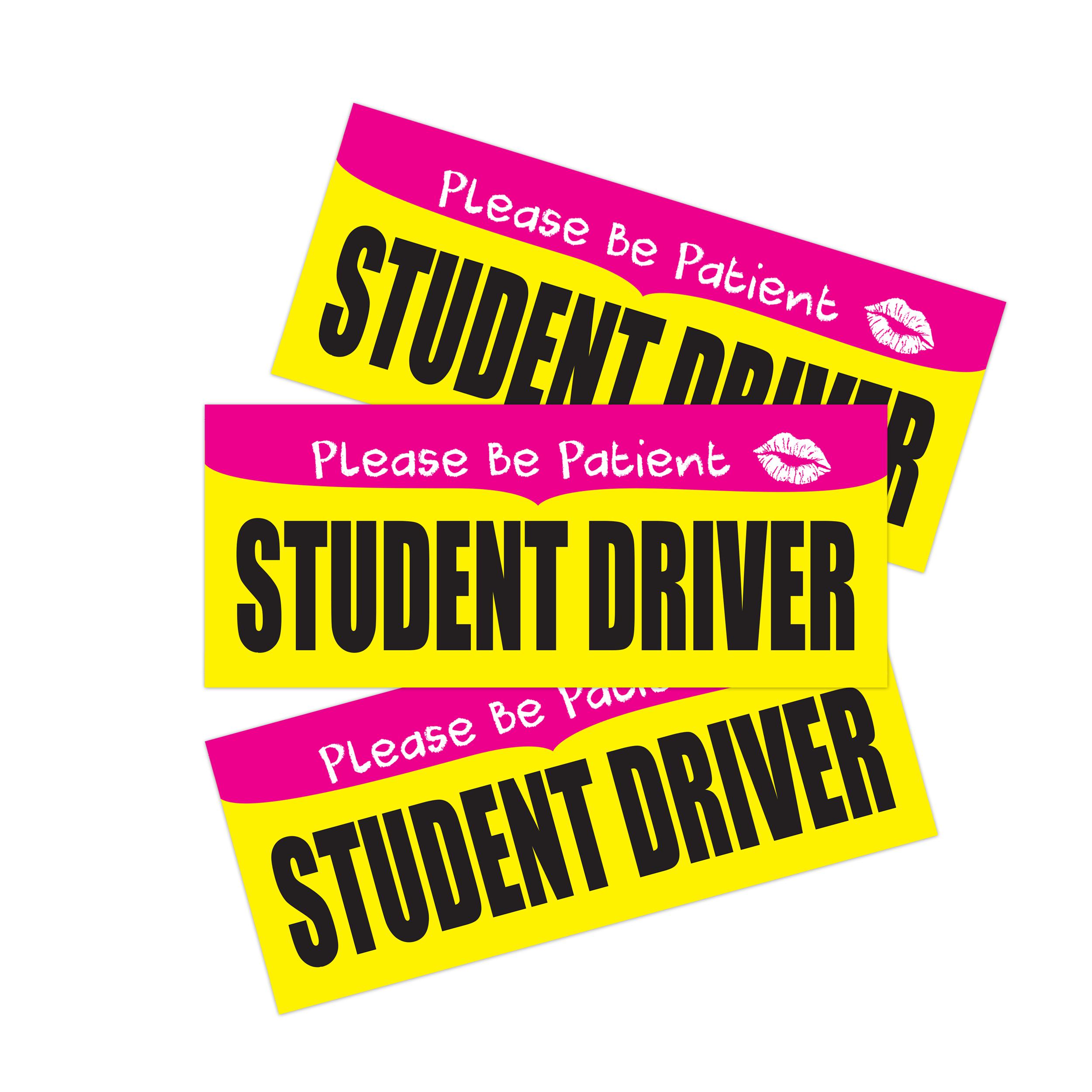 שילוט לרכב - סטודנט לנהיגה - מגנט  3 יחידות בחבילה